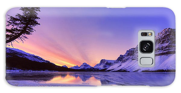 Bow Lake And Pine Galaxy Case