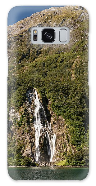 Galaxy Case featuring the photograph Bowen Falls Milford Sound by Gary Eason