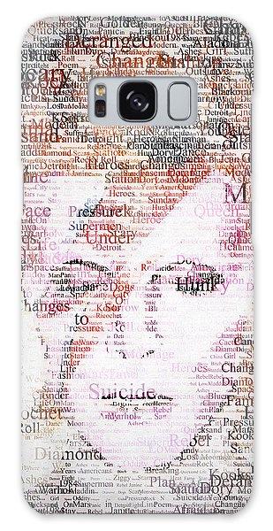 Galaxy Case - Bowie Typo by Zapista Zapista