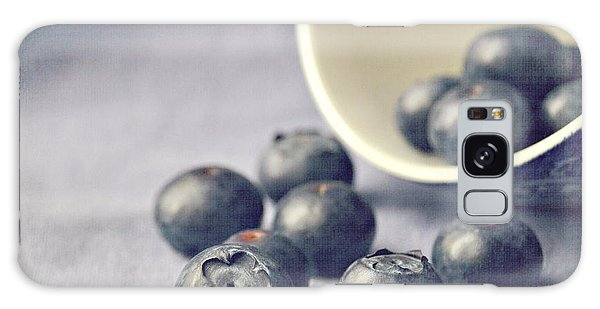 Galaxy Case - Bowl Of Blueberries by Lyn Randle