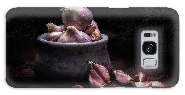 Herbs Galaxy Case - Bowl Of Garlic by Tom Mc Nemar