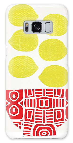Yellow Galaxy Case - Bowl Of Lemons- Art By Linda Woods by Linda Woods