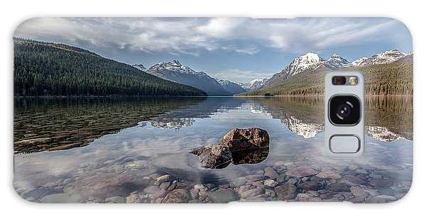 Bowman Lake Rocks Galaxy Case