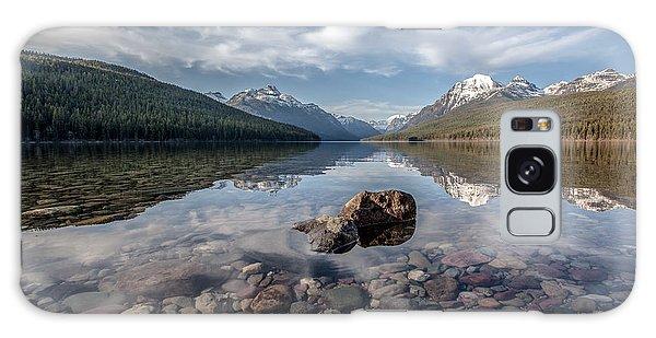Bowman Lake Rocks Galaxy Case by Aaron Aldrich