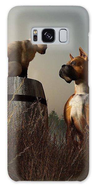 Boxer And Siamese Galaxy Case by Daniel Eskridge
