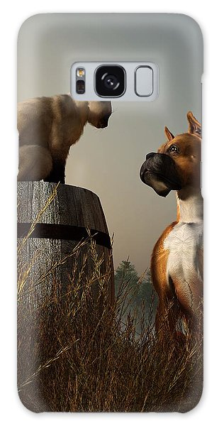 Boxer And Siamese Galaxy Case