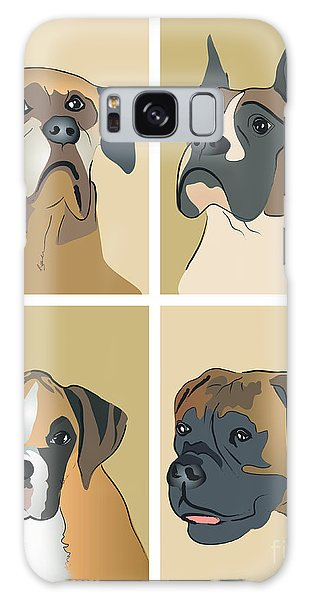 Boxer Dogs 4 Up Galaxy Case