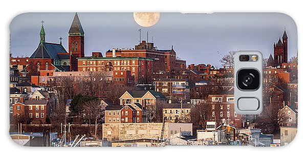 Boxing Day Moon Over Portland Maine  Galaxy Case