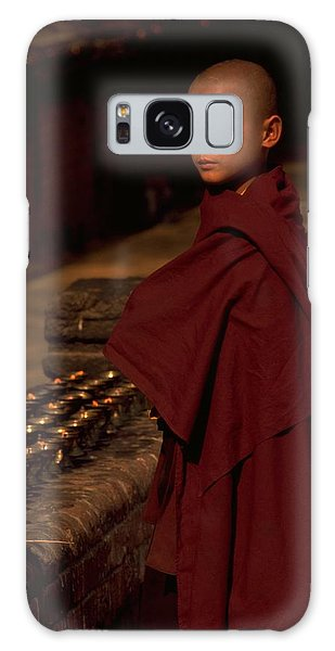 Galaxy Case featuring the photograph Boy Buddhist In Bodh Gaya by Travel Pics