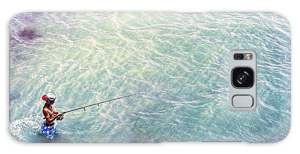 Boy Fishing Galaxy Case