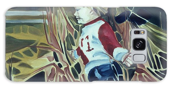 Boy In Grassy Field Galaxy Case