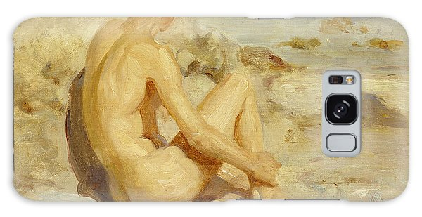 Sitting Nude Galaxy Case - Boy On A Beach by Henry Scott Tuke