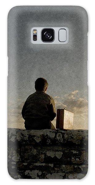 Boy On Wall Galaxy Case