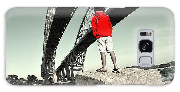 Boy Under Bridge Galaxy Case