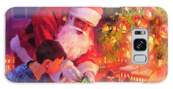 Galaxy Case featuring the painting Boys And Their Trains by Steve Henderson