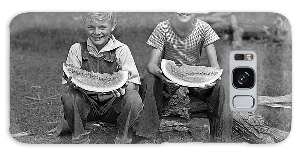 Watermelon Galaxy S8 Case - Boys Eating Watermelons, C.1940s by H. Armstrong Roberts/ClassicStock