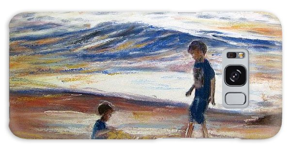 Boys Playing At The Beach Galaxy Case