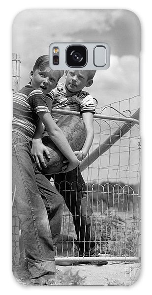 Boys Stealing A Watermelon, C.1950s Galaxy Case by H. Armstrong Roberts/ClassicStock