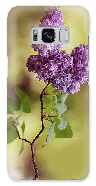 Branch Of Fresh Violet Lilac Galaxy Case