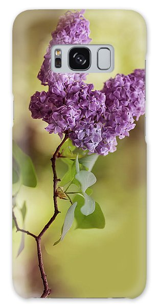 Branch Of Fresh Violet Lilac Galaxy Case