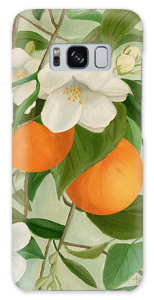 Branch Of Orange Tree In Bloom Galaxy Case