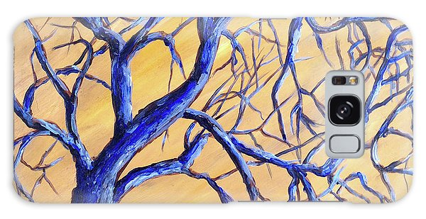 Branches Of Blue Galaxy Case