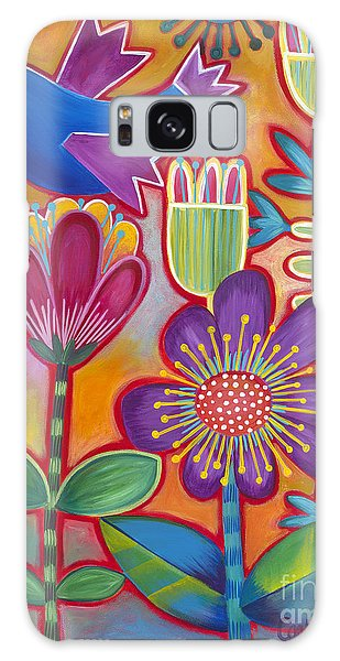 Galaxy Case featuring the painting Brand New Day by Carla Bank