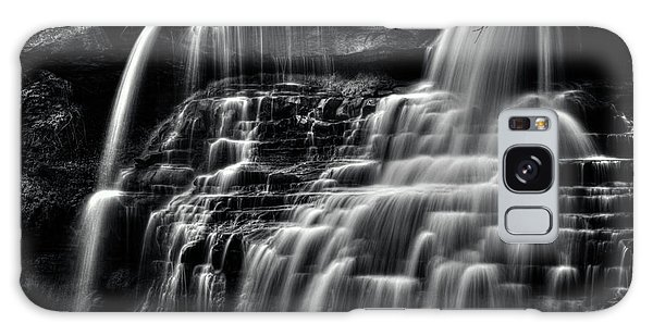 Brandywine Falls At Cuyahoga Valley National Park B W Galaxy Case