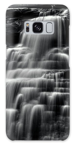 Brandywine Falls At Cuyahoga Valley National Park B W Galaxy Case