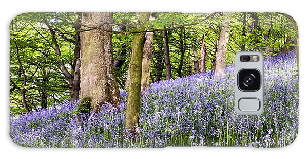 Bluebell Galaxy Case - Bluebell Wood by Janet Burdon