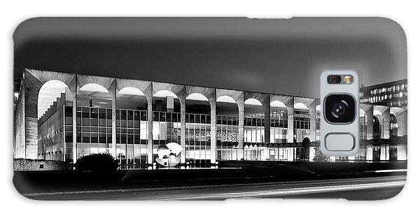 Brasilia - Itamaraty Palace - Black And White Galaxy Case