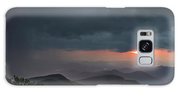 Galaxy Case featuring the photograph Brasstown Bald Sunset by Michael Sussman