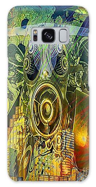Galaxy Case featuring the digital art Brave New World by Eleni Mac Synodinos