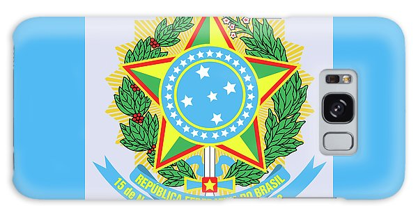 Brazil Coat Of Arms Galaxy Case by Movie Poster Prints