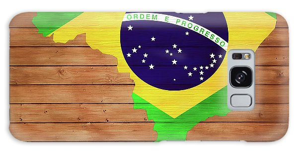 Traveler Galaxy Case - Brazil Rustic Map On Wood by Dan Sproul