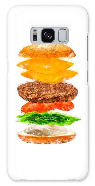 Brazilian Salad Cheeseburger Galaxy Case