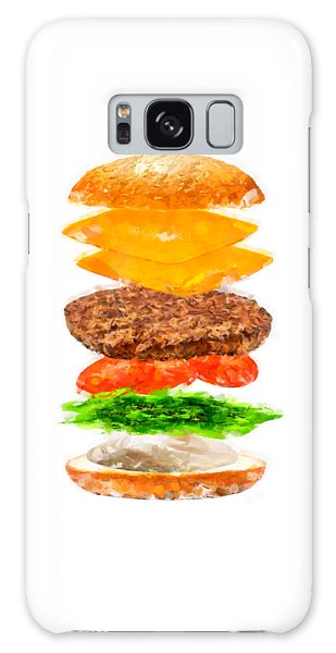Brazilian Salad Cheeseburger Galaxy Case