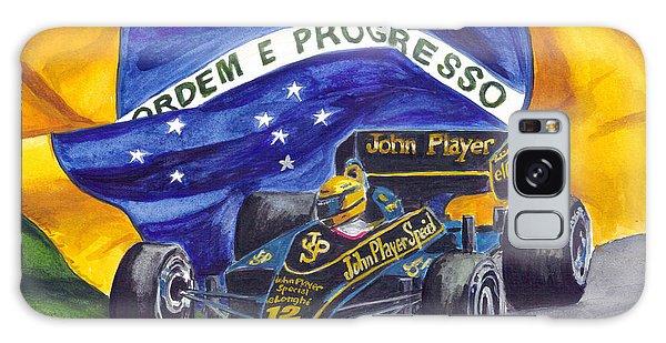 Brazil's Ayrton Senna Galaxy Case by Clara Sue Beym