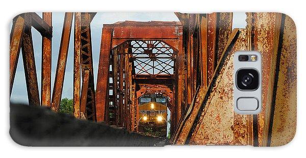 Brazos River Railroad Bridge Galaxy Case