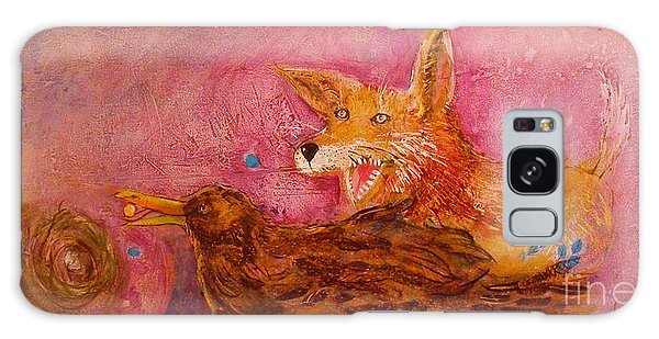 Bre Fox And Bre Crow Galaxy Case by Gertrude Palmer