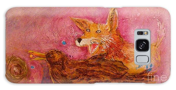 Bre Fox And Bre Crow Galaxy Case by Gertrude Palmer