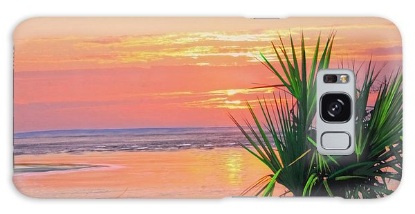 Breach Inlet Sunrise Palmetto  Galaxy Case