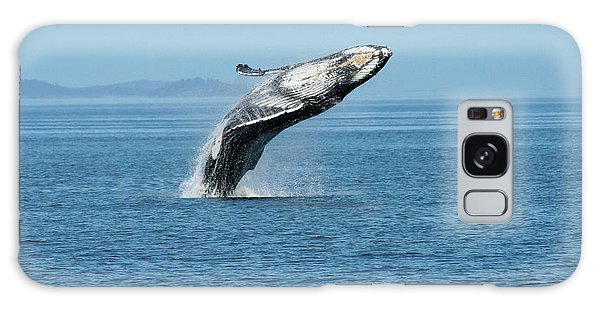 Breaching Humpback Whales Happy-3 Galaxy Case