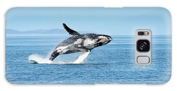 Breaching Humpback Whales Happy-4 Galaxy Case