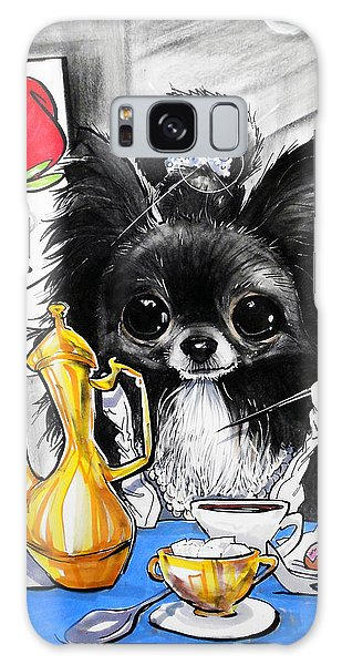 Breakfast At Tiffany's Papillon Caricature Art Print Galaxy Case