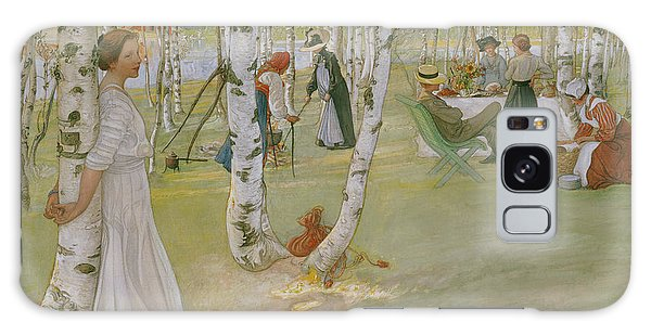 Picnic Table Galaxy Case - Breakfast In The Open, 1910 by Carl Larsson
