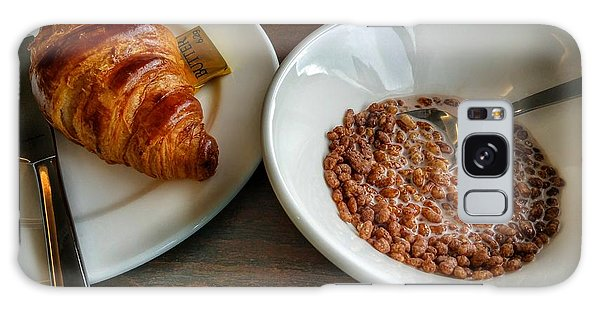 Breakfast Of Cereal And Croissant Galaxy Case by Isabella F Abbie Shores FRSA