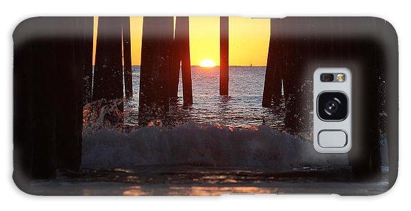 Breaking Dawn At The Pier Galaxy Case