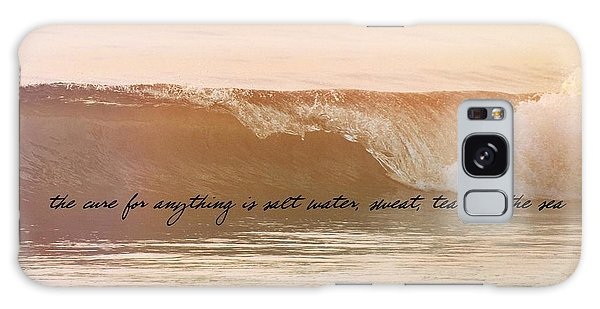 Breaking Wave Quote Galaxy Case