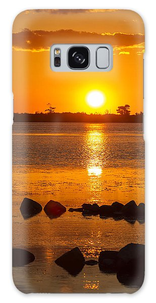 Breakwater Sunset Galaxy Case